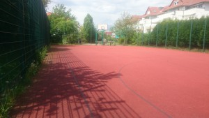 Basketballplatz in der Rheinallee